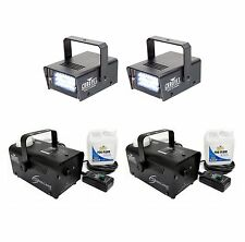 2) CHAUVET CH-730 Mini Strobe Lights + 2) Hurricane 700 H700 Fog Smoke Machines