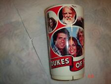 Dukes of Hazzard Plastic Cup Vtg 1981 Deka General Lee Warner Brothers TV Mug