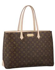 SPRING Louis Vuitton Monogram Canvas Wilshire Gm Bag Purse Tote NEW!