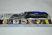 Quick Change Folding Lock Back Utility Sheffield Knife-Belt Clip+blade storage