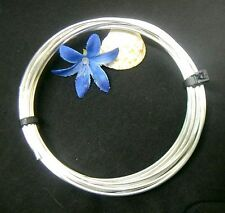 12 + ft. of SILVER PLATED 18ga. DEAD SOFT ROUND WIRE!! PERFECT for JEWELRY!