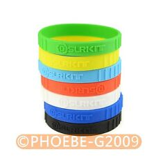 7pcs Mixed color silicone Rubber bracelet Wristbands SET for Camera Lens