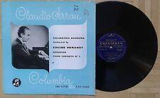 U315 33CX 1080 CLAUDIO ARRAU BEETHOVEN PIANO CONCERTO No.3 ORMANDY COLUMBIA