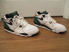 Very Rare Lightly Used Size 13 Nike Air Flight 89 Shoes White Green Black Gold