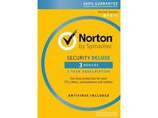 Symantec Norton Security Deluxe - 3 Devices + Norton Utilities Bundle (Small Box