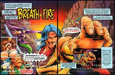 BREATH OF FIRE__Original 1994 Print AD__SNES game promo__Squaresoft_RPG_NINTENDO