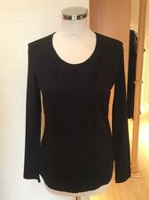 Gerry Weber Top Size 10 BNWT Black Textured Pleated Panel RRP £55 Now £25