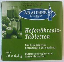 Arauner HEFENÄHRSALZ TABLETTEN zur Weinherstellung 10x0,8g
