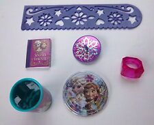 Disney FROZEN Girls Birthday Party Favor Sets Stencil Mini Notebook Top Ring NEW