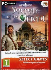 MYSTERY AGENCY SECRETS OF THE ORIENT Hidden Object PC Game CD-ROM NEW