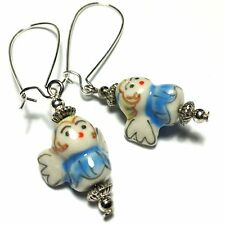 Angel Earrings Silver Plated, Hooks, Clip-On, Butterfly Studs Drop/Dangle