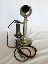 Western Electric Nickel Platted Original Condition Candlestick Phone Telephone