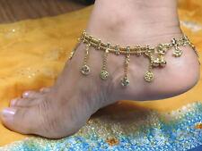 Indien Indische Bollywood Bauchtanz Modeschmuck vergoldet Fußkette Neu
