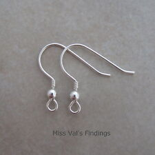 10 sterling silver 925 ear wires 22g ball coil fishook earring