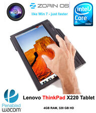 Lenovo ThinkPad X220 Tablet i5 2520M 2.5GHz Multitouch 4GB 320GB Win7COA/Linux