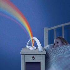 Funny Coloful Rainbow Projector LED Lamp Light for Kid Child Birthday Xmas Gifts