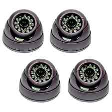 4 x Sony 650TVL 1/3 CCD Vandal IR CCTV Security Dome Camera