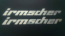 Irmscher chrome stickers x2 pair vauxhall corsa astra car window panel tailgate