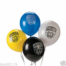 24 POLICE Policeman Cop Party Decorations Police Department LATEX BALLOONS