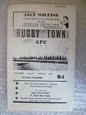 1966 RUGBY TOWN v HASTINGS TOWN, 26th Nov ( Southern League Division One )