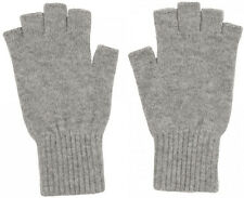 Unisex Royal Speyside 100% Cashmere Fingerless Gloves in Light Grey