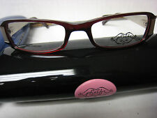 Phoebe Couture  Eyeglass Frames  P226 RED  49-17-125 With  Case New