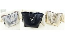 2PC STRAPPED BAG PART LEATHER TOTE SET INTERNAL BAG, PURSE AND STRAP UK Seller