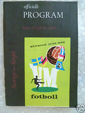 1958 World Cup Quarter-Final Programme Sweden v Russia,19 June (Org*,Exc*)
