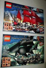 2 LEGO 4184 4195 Pirates of the Caribbean Black Pearl & Queen Anne's Revenge NEW