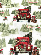 HALF METRE CHRISTMAS TREE FARM QUILTING CRAFT COTTON FABRIC BY SPRINGS CREATIVE