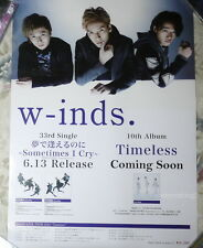 W-inds. Yume de Aerunoni Sometimes I Cry 2014 Taiwan Promo Poster
