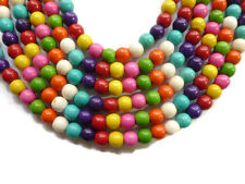 20 perle 6mm Naturel Pierre Mixte creation bijoux, bracelet, collier