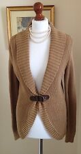 Authentic Ralph Lauren Elegant Knit Beige Camel Cardigan FR38 UK10 Fabulous!
