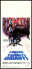 L'IMPERO DELLE TERMITI GIGANTI LOCANDINA CINEMA HG WELLS 1977 EMPIRE OF THE ANTS