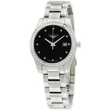 Longines Conquest Women's Watch  Diamonds Black Dial Quartz L34010576