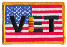 Motorcycle Jacket Embroidered Patch - United States Flag USA (Vietnam Vet Flag)