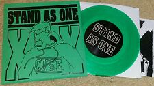 """STAND AS ONE - BEGIN TO CARE DEMO 7"""" GREEN VINYL PRE - STRIFE DAYS SXE JUDGE YOT"""