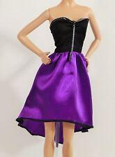 Genuine Barbie Doll Black / Purple Dress, Outfit, Clothes