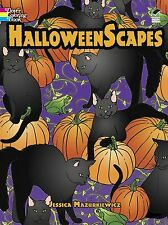 Holiday Adult Coloring Book Halloween Scapes Dover Fun Design Pumpkin Cats Witch