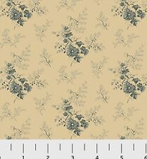 Southern Vintage Reproduction Floral Fabric 1yd 100% Cotton Blue #784B P&B