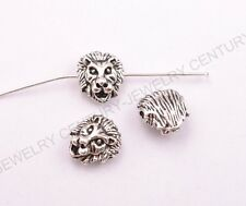 10/30/50Pcs Tibetan Silver Lion Head Spacer Beads for Bracklets 13X11X6MM C3029
