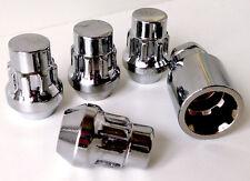 4 x alloy wheel Locking Lock nuts lugs bolts. M12 x 1.5, 19mm Hex, Taper Seat