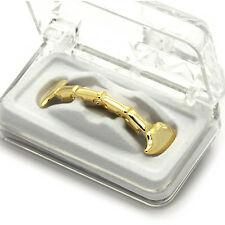 14K Gold Plated Hip Hop Teeth Grillz Half Top Custom Fit Fangs *HIGH QUALITY!!*