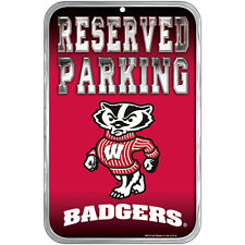 """Wisconsin Badgers Reserved Parking Sign 11""""x17"""""""