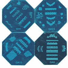Stamping Device Nail Art Plate (( Lace))  Series 4 Plate Set