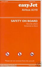 Safety Card - easyJet - A319 - c2003  (SC247)