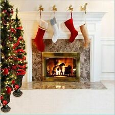 10x10FT Christmas Tree White Room Fireplace Photo Backdrop Studio Background