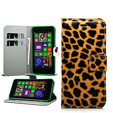 Wallet Leather Case Flip Cover + Stylus For Nokia Microsoft Lumia Phones