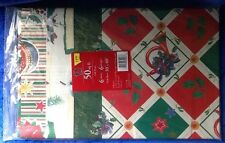 Cleo Christmas Wrapping Paper 50 Square Feet 6 Sheets 6 Designs Vintage