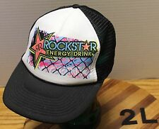NICE WOMENS ROCKSTAR ENERGY DRINK SNAPBACK HAT IN VERY GOOD CONDITION